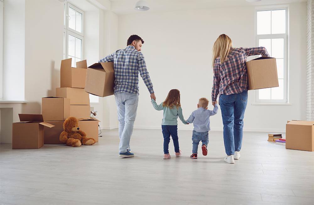 Family of four moving out